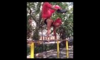 Neįtikėtini akrobatiniai triukai