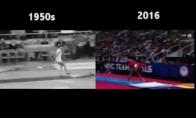 Gimnastika 1950-aisiais ir dabar