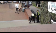 Apsauginis konfiskuotu BMX dviračiu parodo klasę