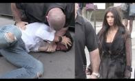 Pokštininkas pabando pabučiuoti Kim Kardashian užpakalį