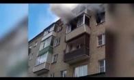 Dramatiškas išsigelbėjimas iš degančio buto