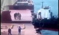 Nepavykęs bandymas pakrauti laivą