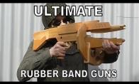Įspūdingi ginklai, šaudantys gumytėmis