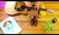 Įdomus grojimas gitara