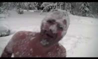 Kaip norvegas džiaugiasi pirmuoju sniegu