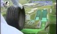 Japonų TV šou: šokinėjančios padangos slidžių trasa