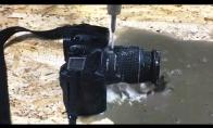 Kaip fotoaparatą perpjauti su vandens srove?