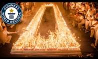 Gineso rekordas: Daugiausiai žvakučių ant torto