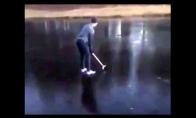 Kodėl nereikėtų žaisti golfo ant užšalusio ežero?