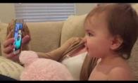 Pirmasis mažylių vaizdo pokalbis