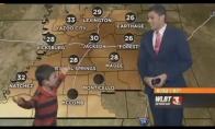 Vaikas sugadina orų pranešimą