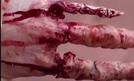 Super realistiškas zombiškas makiažas