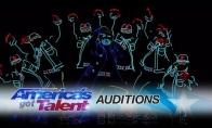 Šviesų šokėjai Amerikos talentuose