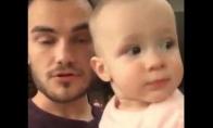 Tėčio ir kūdikio beatbox kova