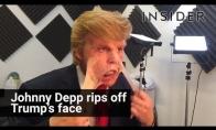 Johny Depp nusiplėšia Trumpo veidą