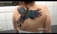 Skrendančio fenikso tatuiruotė