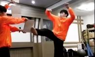 540 laipsnių karate spyris