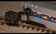 Go-Pro ant žaislinio traukinuko