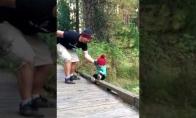 Greita tėčio reakcija