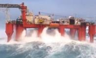 Darbas naftos platformoje vandenyje