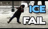 Ant ledo krentančių žmonių rinkinys