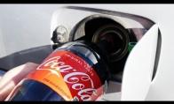 Ar automobilis važiuos baką pripylus Coca-Cola?