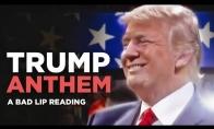 Kaip iš tiesų Trumpas gieda JAV himną