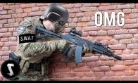 SWAT pareigūnas sudaužo visus airsofte