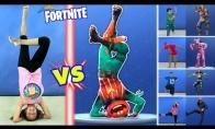 Fortnite žaidimo veikėjų šokio pakartojimo iššūkis