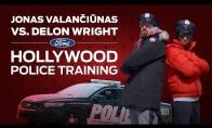 Kaip Valančiūnas bandė tapti policininku