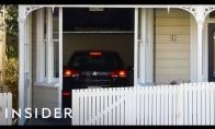 Namas su slaptu dvigubu garažu
