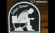 Sėdėjimo tualete laiko skaičiuoklis