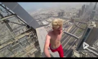 Vaikščiojimas Dubajaus dangoraižių stogais