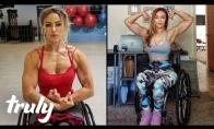 Po automobilio avarijos paraližuota moteris tapo fitneso modeliu