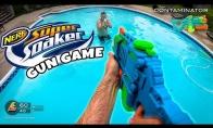 Vandens pistoletų mūšio šaudyklės žaidimas