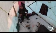 Nesėkmė ledinėje žūklėje
