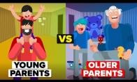 Geriau turėti jaunesnius ar vyresnius tėvus?