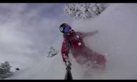 Adrenalino kupinas nusileidimas nuo kalno