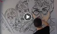 Realistiškas piešinys kambaryje