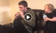 Tėvas apgauna sūnų, kad valgo blogą maistą