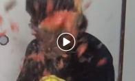 Arbūzo sprogimas į veidą