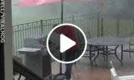 Barbekiu lietuje
