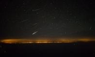 Meteorų lietus iš piloto kabinos