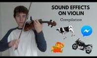 Įvairūs garso efektai smuiku