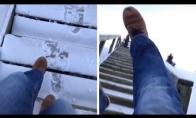Greitas nusileidimas laiptais