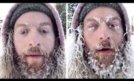 Vyras 2 valandas prastovi lauke, kad galėtų parodyti, kaip užšalo jo barzda