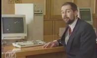 Įdomi laida apie kompiuterius filmuota 1990-aisiais
